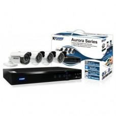 Комплект видеонаблюдения 4-х канальный с 4 камерами
