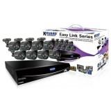 """Комплект видеонаблюдения 16-ти канальный с 8 камерами, c поддержкой EasyLink и """"Облачного"""" сервиса EL1621-8HW212B"""