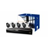 Комплект HD481-4WA713A 6 каналов (4 BNC + 2 IP), 4 камеры (960H, 720P / 1080P)